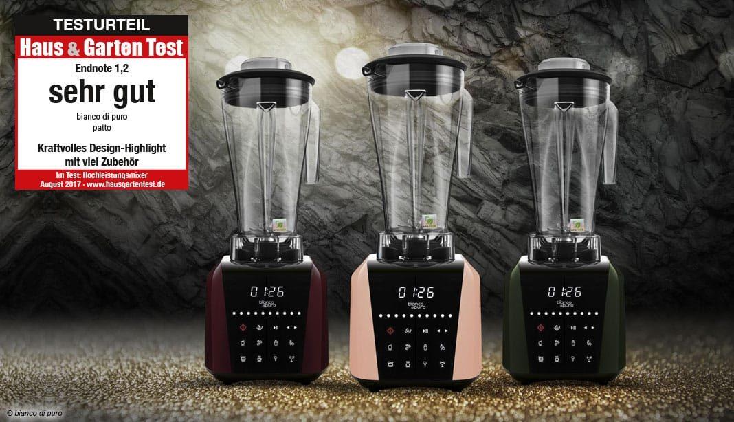 Bianco di Puro PRIMO schwarz 1200W Hochleistungsmixer Smoothiemaker
