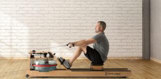 Ein Wasserrudergerät für die eigenen vier Wände aus Buche-Echtholz mit großem Wassertank ist ideal für effektives Ausdauer- und Krafttraining