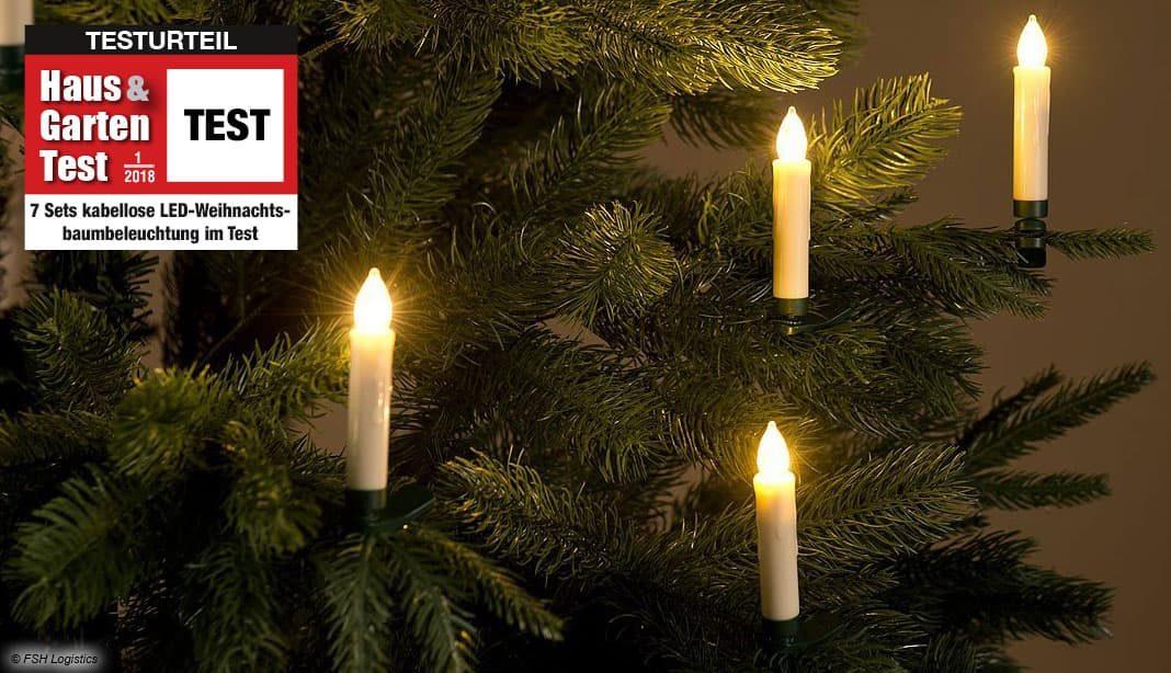 Weihnachtsbaum lichterkette innen test