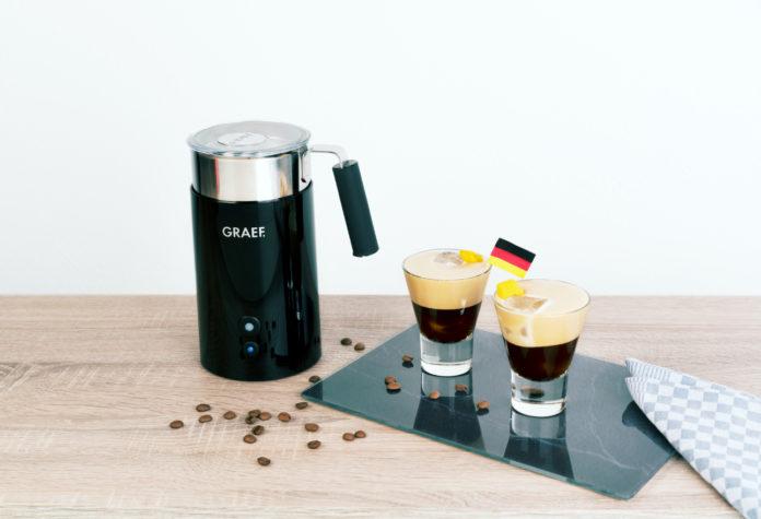 Den Milchaufschäumer MS 702 von Graef gibt es zur Fußball-WM im kostenlosen Set mit zwei Gläsern für die Milchkaffee-Spezialität Shakerato