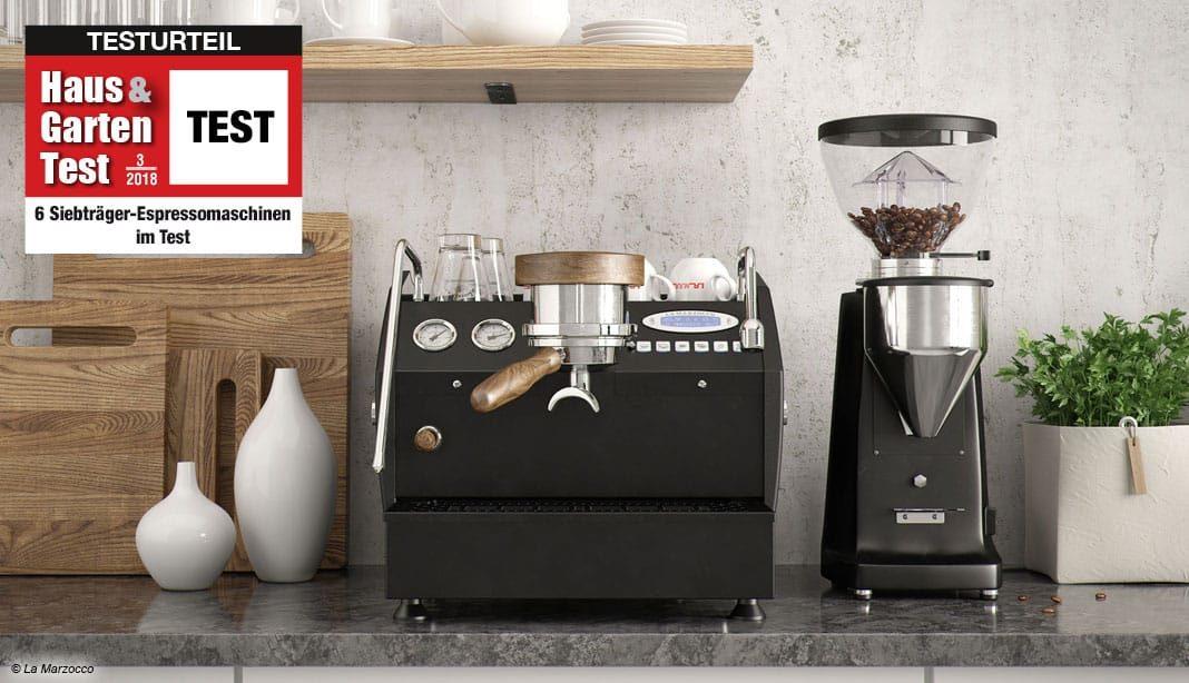 Siebträger-Espressomaschinen Test 2018