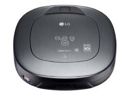 Der LG HomBot Staubsaug-Roboter, ausgestattet mit HomeGuard-Funktion, kann Zuhause seines Besitzers überwachen über unerwünschte Eindringlinge informieren