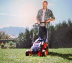 Mit Power X-Change Technik pflegen Rasenmäher von Einhell kabellos und professionell das Gartengrün