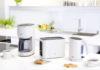 Die Braun PurEase Frühstücksserie mit Filterkaffeemaschine, Wasserkocher und Toaster verschönt den Start in den Tag.