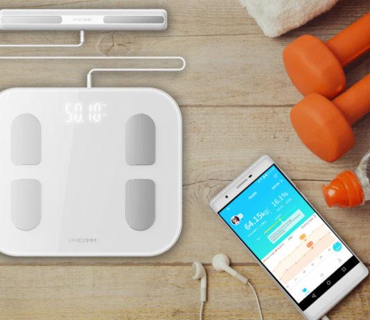 Die Körperanalysewaage Smart Scale S7 von Phicomm listet via App und WLAN-Verbindung sämtliche Daten und entsprechende Erfolge auf