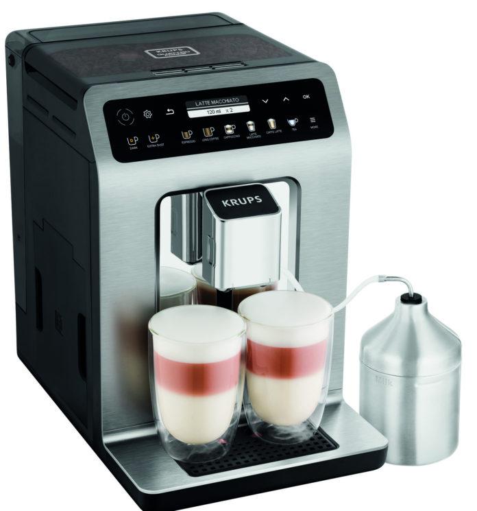 Der neue Kaffeevollautomat EvidencePlus von Krups liefert auf Fingerdruck insgesamt 19 Getränkevariationen