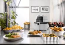 Mit der IdealFry von De'Longhi lassen außer Pommes frites auch Beilagen, Fisch, Fleisch und Pizzen mit weniger Fett und ohne großen Zeitaufwand zubereiten