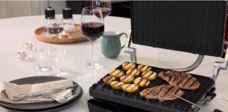 Der George Foreman Präzisions-Fitnessgrill zum Grillen und Anbraten von Fleisch, Fisch und Gemüse