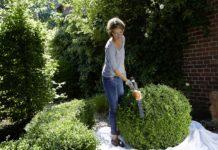 Mit dem passenden Gartengerät wird Heckenpflege zum Kinderspiel.