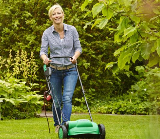 Zur Frühjahrskur für den Rasen gehört das Vertikutieren, das die Grünfläche von Moos und Rasenfilz befreit.