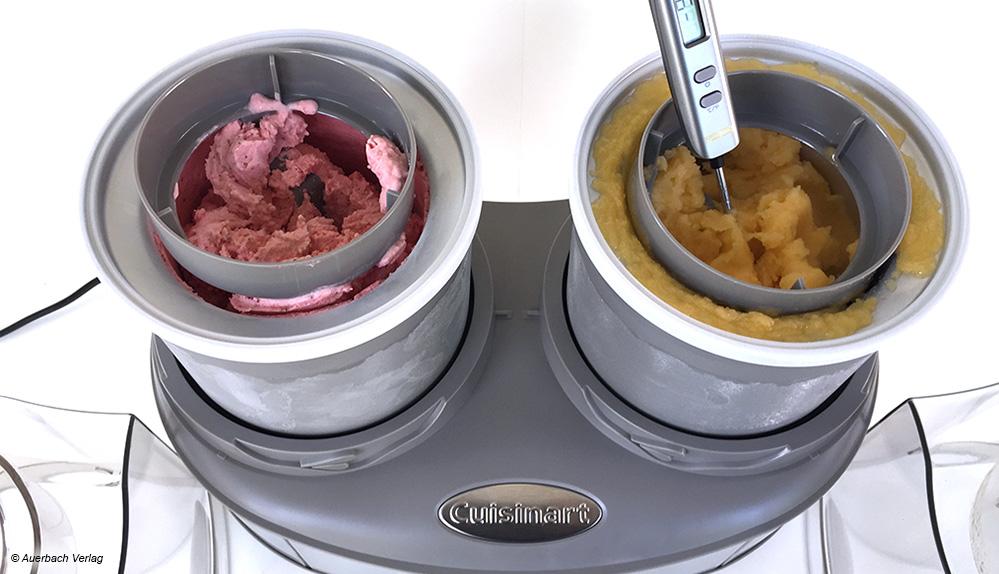 Im Ice Cream Duo von Cuisinart können in nur 20 bis 30 Minuten gleich zweimal verschiedene Eissorten mit unterschiedlichsten Zutaten produziert werden