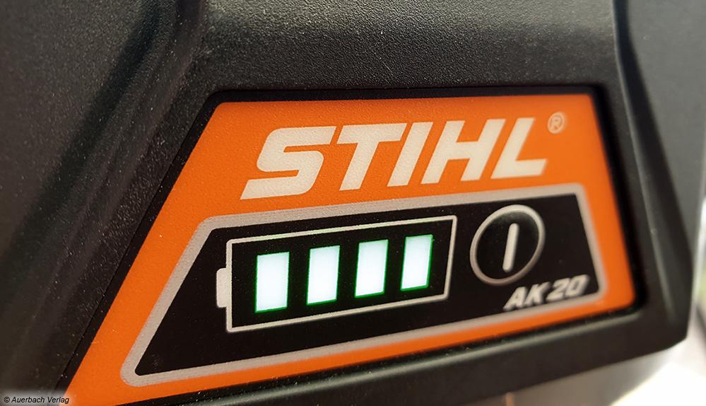 Alle Akkus sind mit praktischen LED-Ladestandanzeigen zur Kontrolle der Restlaufzeit ausgestattet