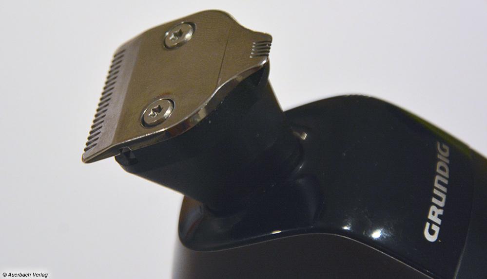 Beim Grundig lässt sich der Dreifach-Rotationskopf durch einen Detailtrimmer ersetzen