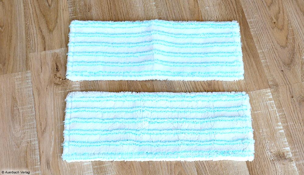 Nach der 60-Grad-Wäsche im Kurzwaschgang ist derselbe Bezug so gut wie neu und kann auch im Wohnraum wieder verwendet werden