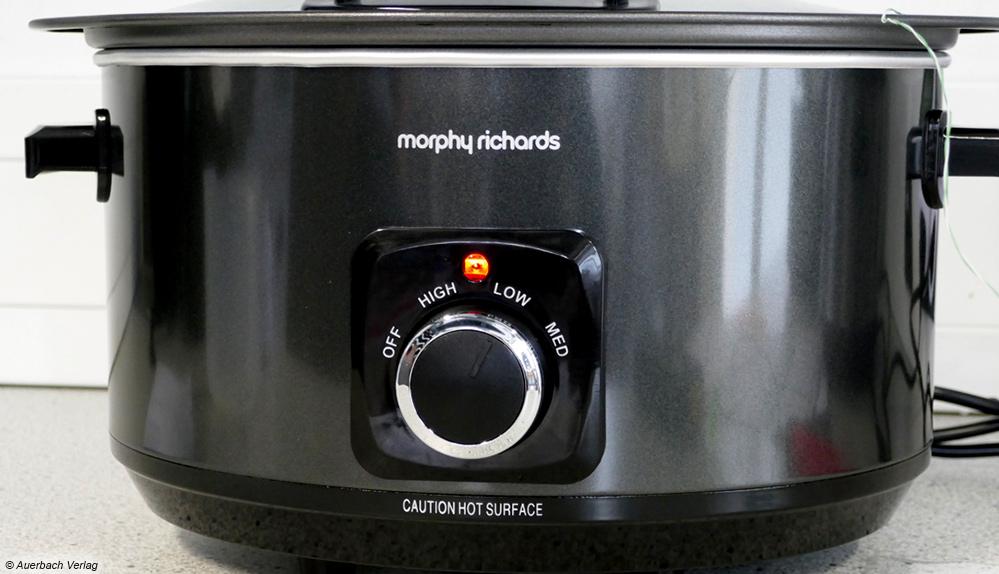 Mit dem Morphy Richards Slow Cooker lassen sich größere Mengen stromsparend zubereiten