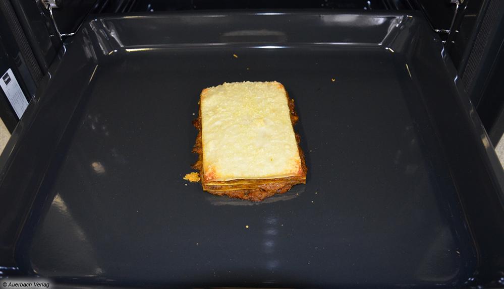 Trotz der hohen Leistung und einer Maximaltemperatur von 700 Grad Celsius beim SteakMaster fehlt der Lasagne die Kruste
