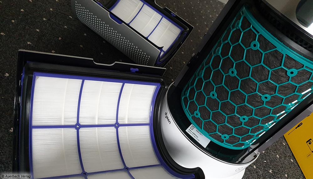 Ein wahres Multitalent ist der Hot+Cool von Dyson. Dieser ist sogar mit passenden Filtern ausgerüstet und erlaubt eine effektive Luftreinigung