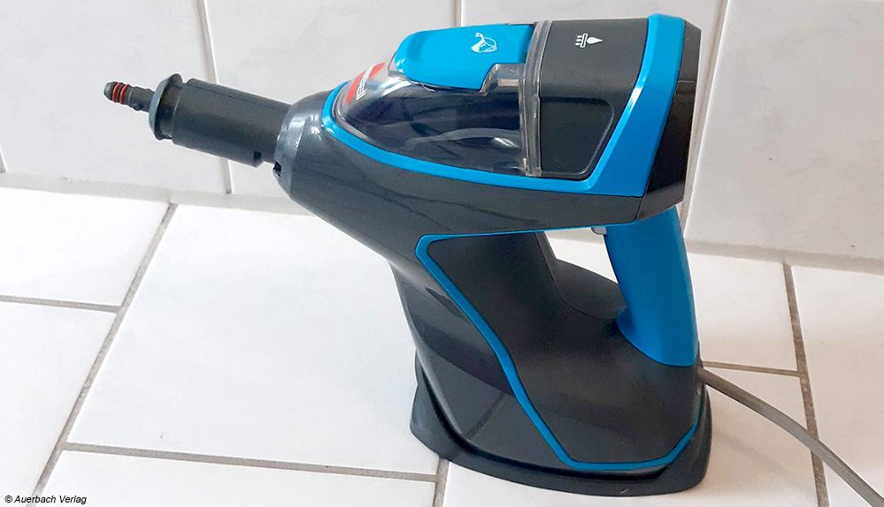 Das Handgerät von Bissell kann auch ohne Mopp als Handdampfreiniger verwendet werden und bietet damit Vielfalt