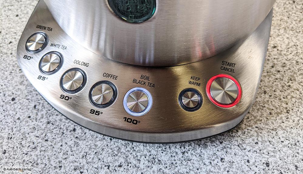 Der Kocher von Sage gibt bereits Empfehlungen für Teesorten, genauer kann es der hauseigene Teebereiter