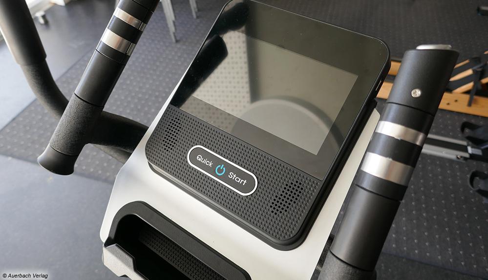 Der Computer des AsVIVA-Crosstrainers kann durch sein Android-System sowie Entertainmentprogramm überzeugen