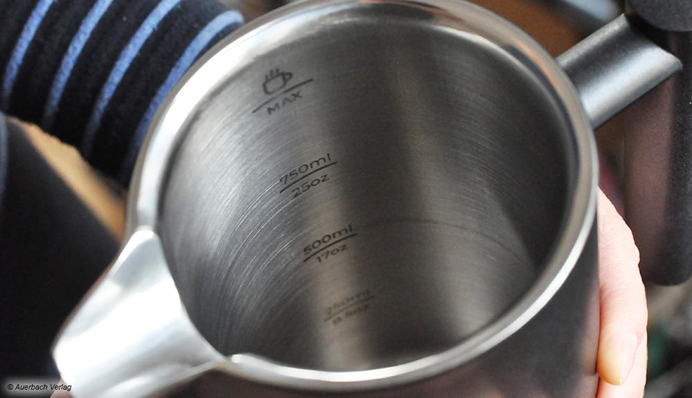 Die Füllanzeige befindet sich bei Silberthal innen und ist damit schlecht zu erkennen. Doch die Schrift ist nicht zu klein