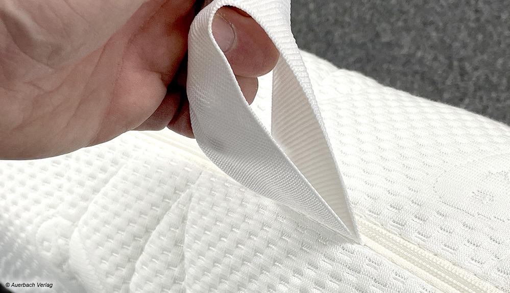 Die Nähte des Wendegriffe sind aus festem Material gewebt und geben auch bei kräftigem Zug nicht nach.