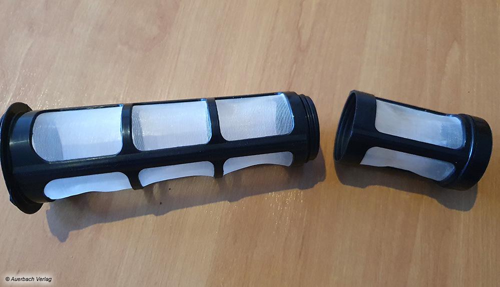 er Filter der Silberthal-Kanne kann in der Länge in zwei Stufen angepasst werden