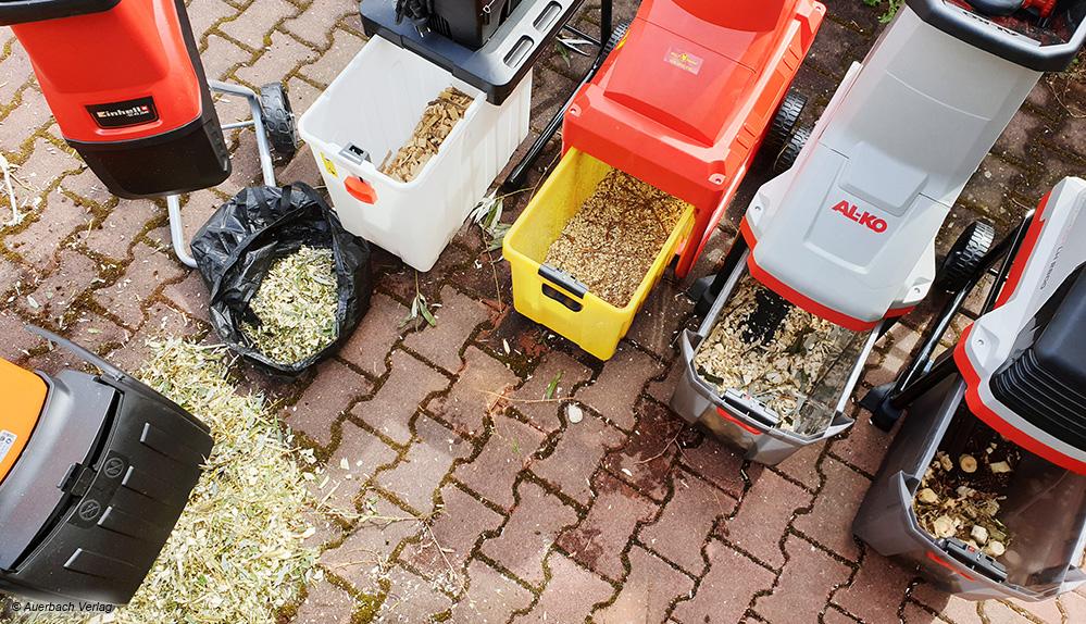 So unterschiedlich die getesteten Gartenhäcksler, so verschieden auch die Qualität des Schnittgutes am Ende