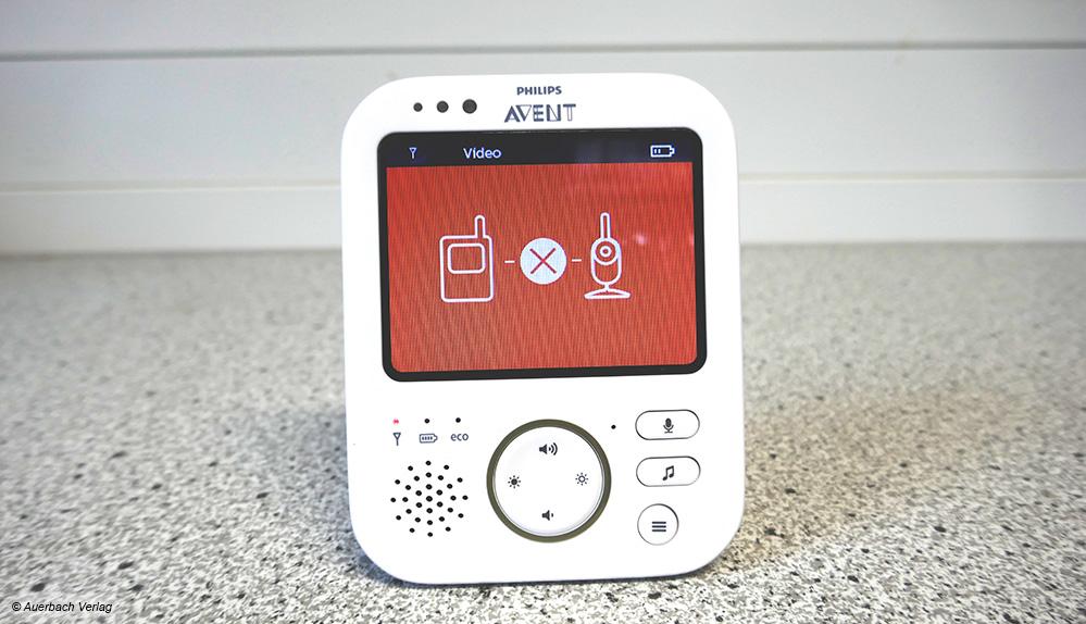 Warnungen für mehr Sicherheit: Wenn die Verbindung abreißt, reagieren die Babyphone (hier: Avent) umgehend