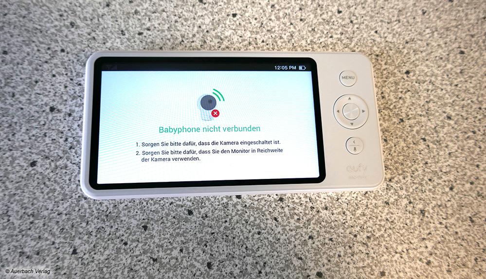 Auch Eufy schlägt bei Verbindungsabbruch Alarm – und erklärt, was Eltern tun müssen, damit das Gerät wieder funktioniert