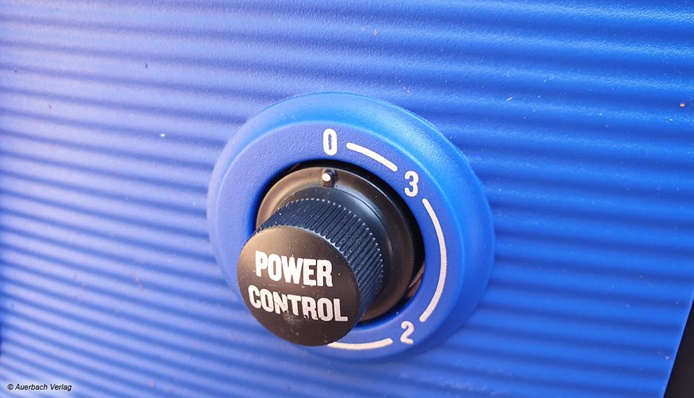 """Dank der Druckregelung """"PowerControl"""" kann der Wasserdruck beim Nilfisk Core 140-6 Powercontrol bei der Arbeit an die Gegebenheiten angepasst werden"""