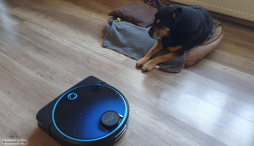 Der Hobot Legee 7 ist nicht nur speziell für Haushalte mit Haustieren ausgelegt, sondern kommt auch gut mit ihnen zurecht