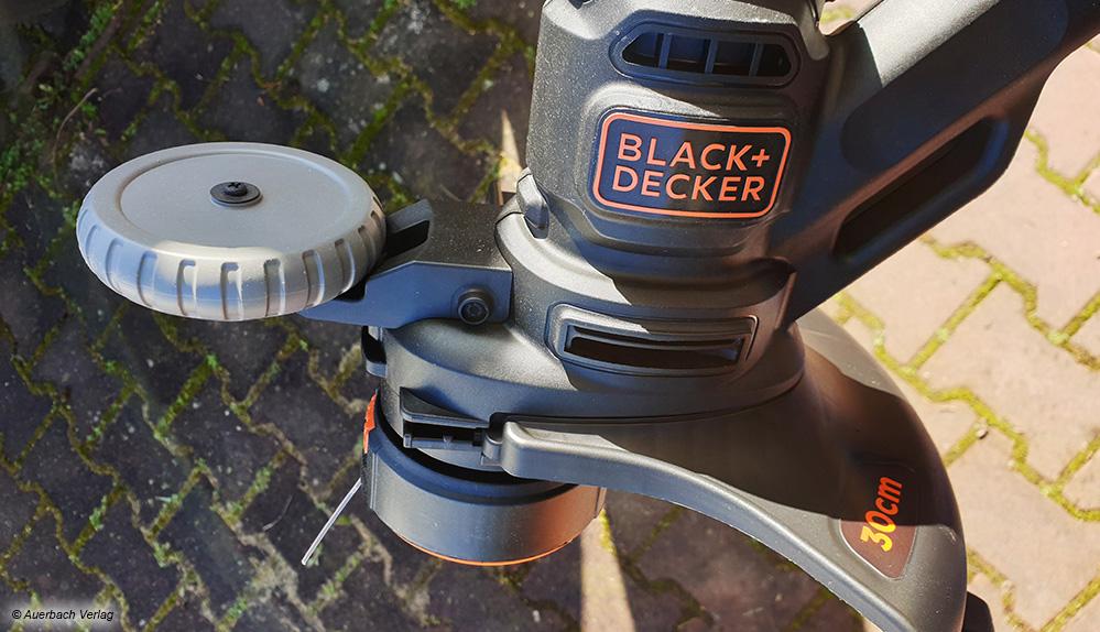 Bei den Geräten mit Kantentrimmfunktion zeigt sich ein vorhandenes Stützrad als sehr nützlich in der praktischen Anwendung