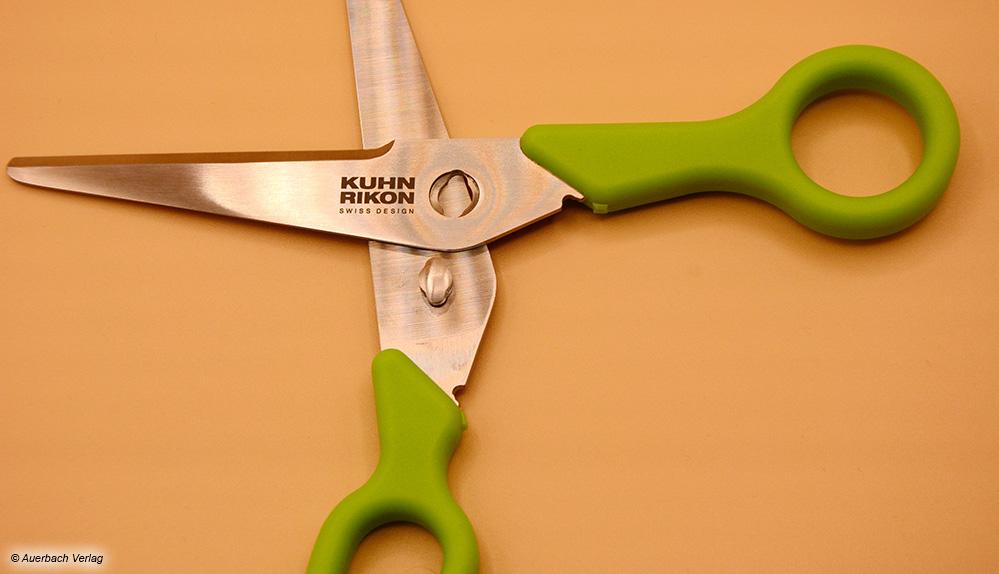 Durch voneinander lösbare Klingen ist die Schere von Kuhn Rikon kinderleicht zu reinigen