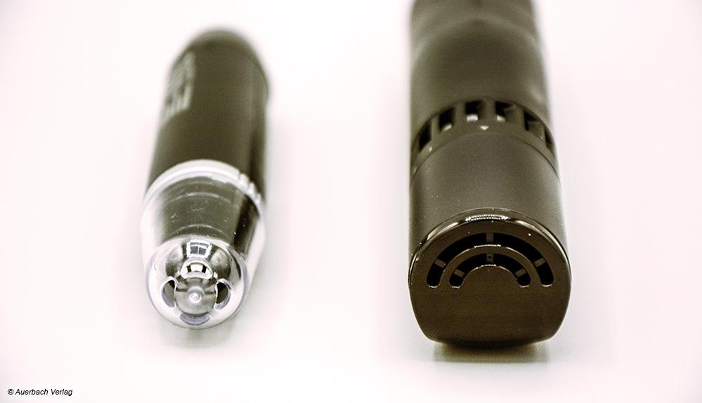 Die Nasenhaartrimmer bzw. Ohrenhaartrimmer von Panasonic und Pepcare besitzen eine Schutzkappe mit Lüftungsschlitzen