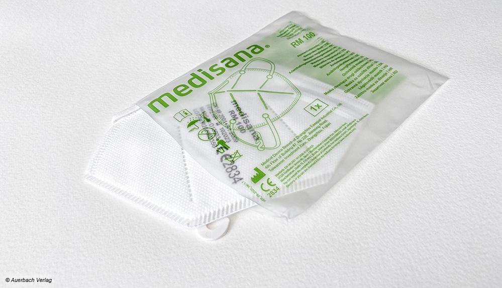 Die Gesichtsmasken von Medisana sind einzeln in PE-Folie verpackt und somit bis zum eigentlichen Gebrauch sicher vor Verschmutzung