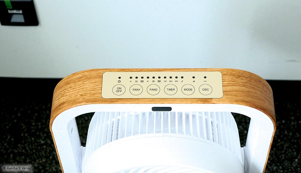 Das optisch ansprechende Bedienfeld des Sonnenkönig Vind 2. Panel-Kontrolle mit Touch-Funktion