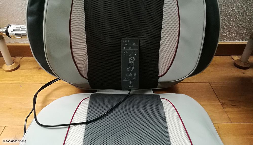 Die Kompressionsflügel bei Beurer an den Seiten der Rücken- sowie der Sitzfläche sorgen für eine sanfte Akupressur der Taille und Oberschenkel