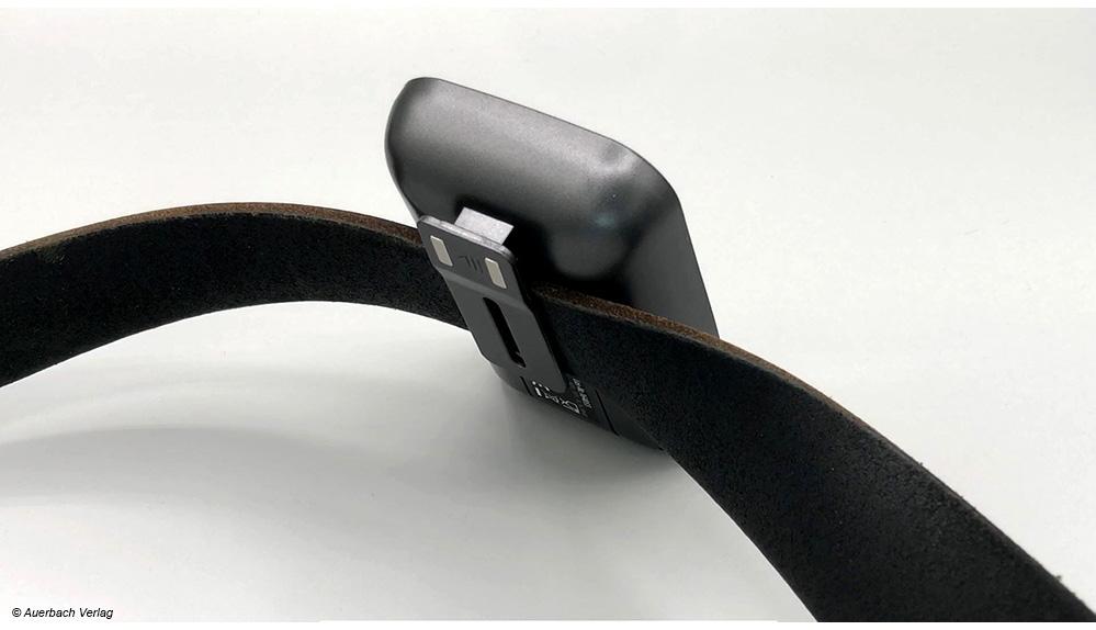 Beim Funkthermometer von Rosenstein & Söhne kann man die Anzeige-Einheit bequem am Gürtel befestigen und mitnehmen