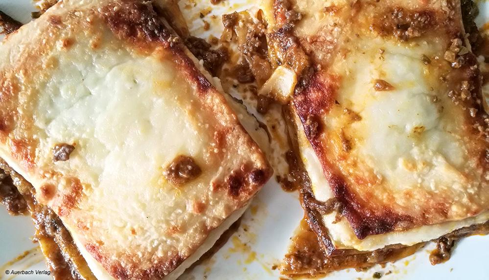 Auch die Lasagne kann überzeugen und ist gleichmäßig gebräunt