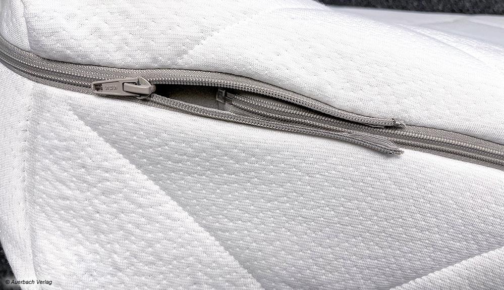 Der umlaufende Reißverschluss ist strapazierfähig und ermöglicht separates Waschen beider Bezugseiten