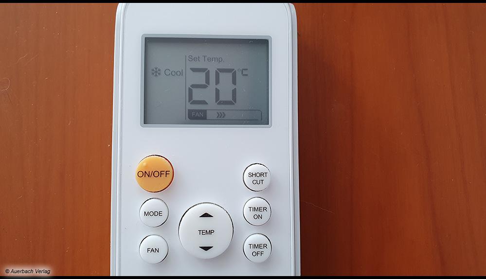 """Dank der praktischen """"Follow me""""-Funktion wird die Temperatur nicht direkt an der Klimaanlage, sondern an der Fernbedienung gemessen und somit in der Nähe Ihres Aufenthaltsortes"""