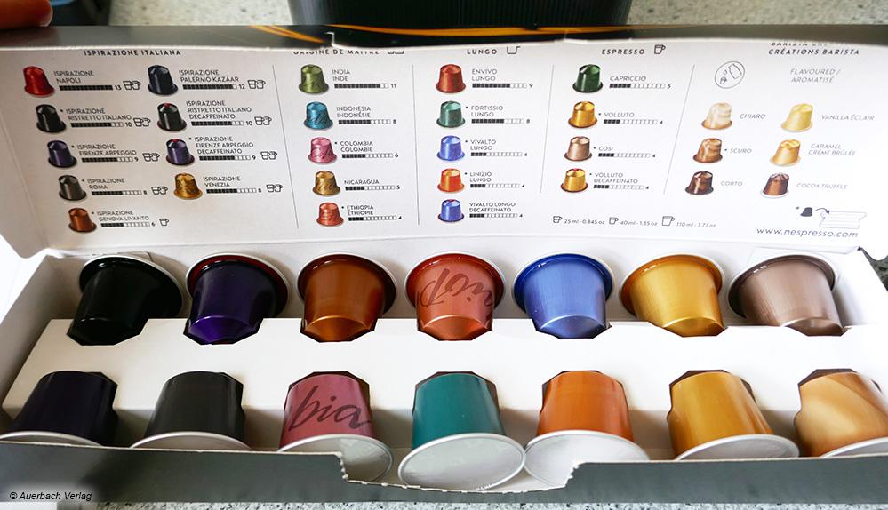 Qual der Wahl: Bei der Maschine von De'Longhi sind 14 verschiedene Kaffeesorten zum Probieren im Lieferumfang enthalten