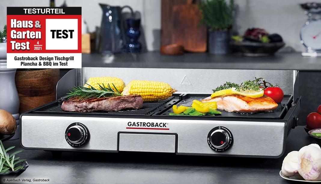 Test Gastroback Design Tischgrill Plancha & BBQ