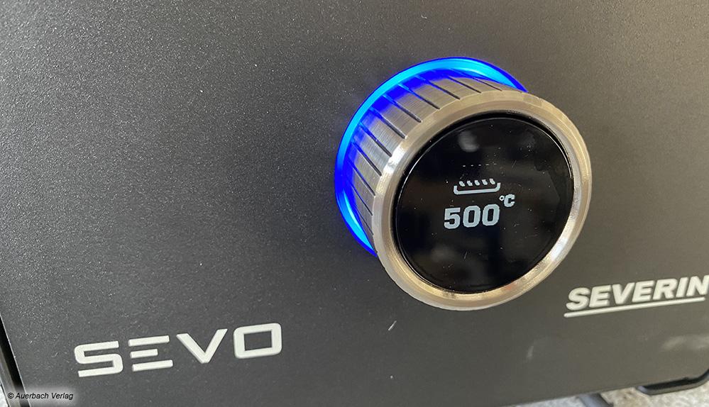 Der Sevo von Severin bietet ein sehr gutes Display, sodass die Bedienung gut gelingt. Die Temperatur kann exakt reguliert werden