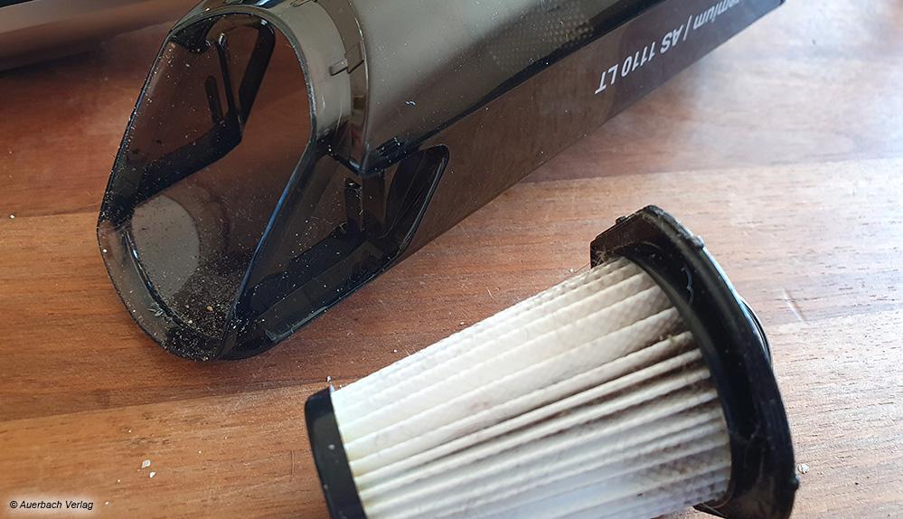 Alle Geräte sind mit Filtersystemen ausgestattet, um die Feinstaubbelastung zu reduzieren. Diese müssen regelmäßig gereinigt werden