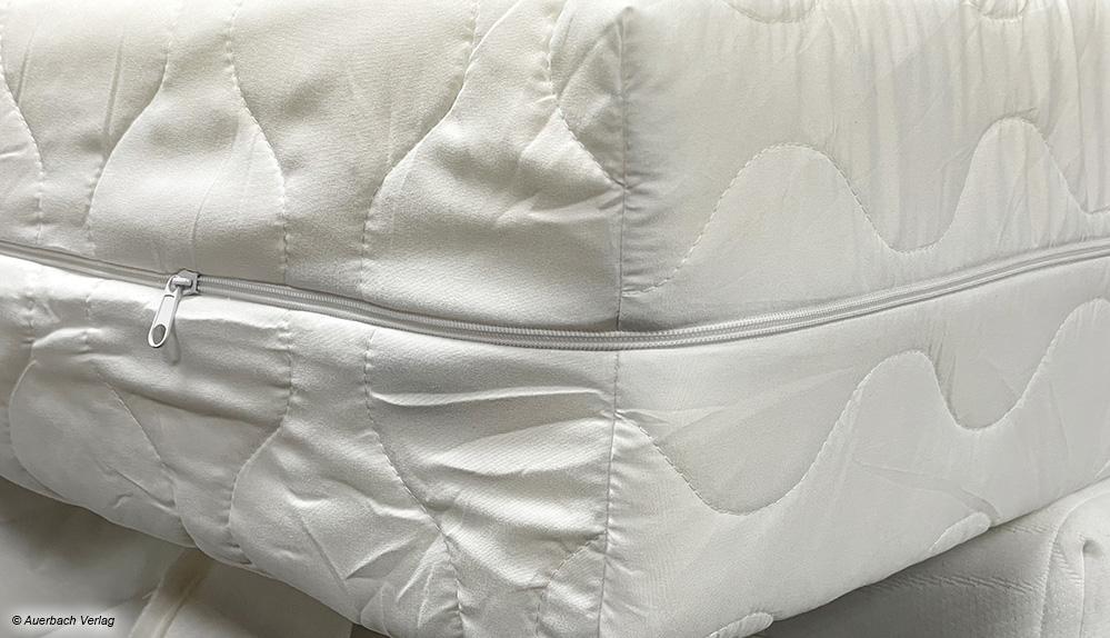 Die Nähte des Matratzenersatzbezuges sind fest sowie erstklassig verarbeitet und der Bezug passt genau auf die gewählte Matratzengröße