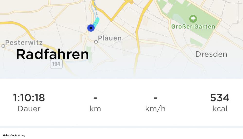 Durch die Verbindung zum GPS des Handys kann das Fitnessarmband von Withings Trainingsrouten in der App direkt aufzeichnen