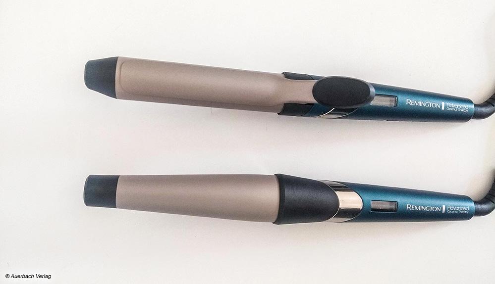 """Die beiden Testgeräte von Remington gehören zur Reihe """"Advanced Coconut Therapy"""" mit Keramikbeschichtung plus Kokosnuss"""